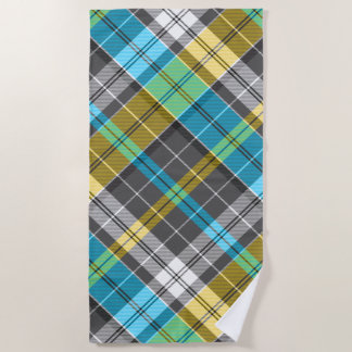 Desert Island Plaid Tartan Beach Towel