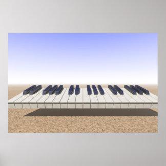 Desert Keyboard Poster