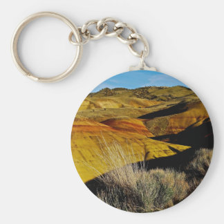 DESERT LANDSCAPE WITH COLORFUL DUNES BASIC ROUND BUTTON KEYCHAIN