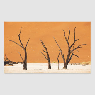 desert landscape with DEAD trees Sticker