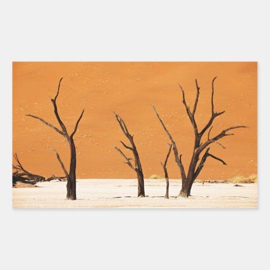 desert landscape with DEAD trees Sticker