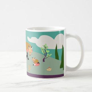 Desert Life: fox and kits mug art
