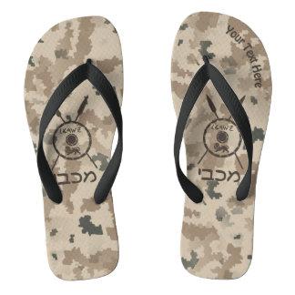 Desert Maccabee Shield And Spears Flip Flops