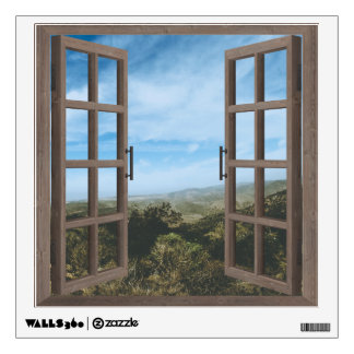 Desert Mountain Window Frame Wall Graphic