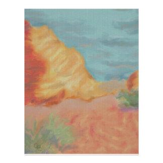 Desert Mountains Letterhead Template