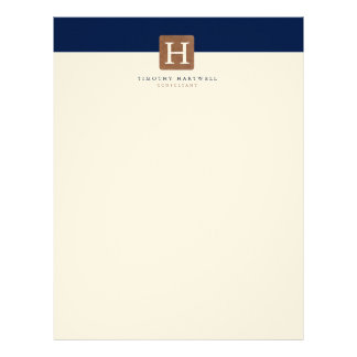 Desert Night Color Split Bold Monogram Letterhead