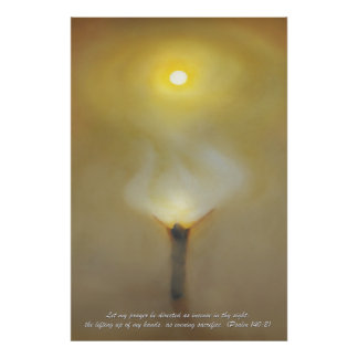 Desert Prayer with Scripture Quote Print. Poster