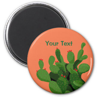 Desert Prickly Pear Arizona Custom Magnet