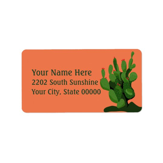 Desert Prickly Pear Arizona Return Address label