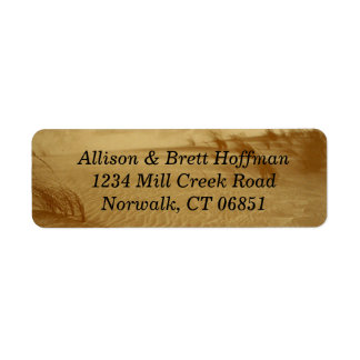 Desert Return Address Label