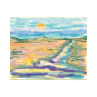 'Desert River' 20x16 Premium Canvas (Gloss)