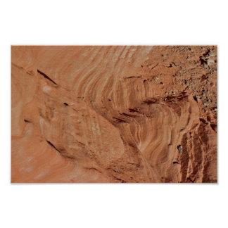 Desert Rock Formations Detail Valley of Fire Poster