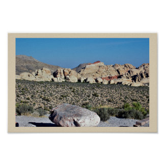 Desert Rock Formations Poster