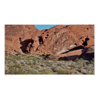 Desert Rock Formations Valley of Fire Poster