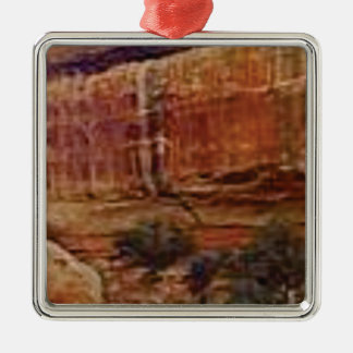 desert rock stripes metal ornament