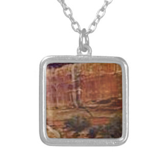 desert rock stripes silver plated necklace