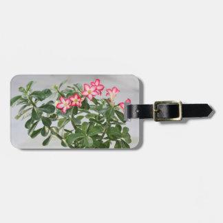 Desert Rose Flowers Plant Luggage Tag