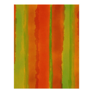 Desert Rose Watercolor Stripes Letterhead Template