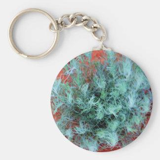 Desert Sage Basic Round Button Keychain