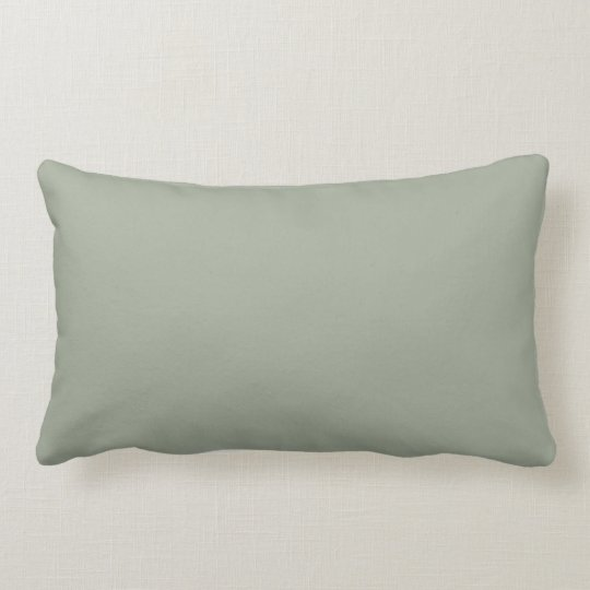 Desert Sage Solid Colour Lumbar Pillow