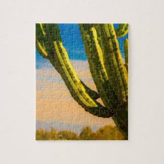 Desert Saguaro Cactus on Blue Sky Jigsaw Puzzle