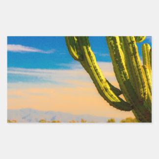 Desert Saguaro Cactus on Blue Sky Sticker