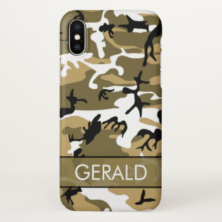 Desert Sand Camo Custom iPhone X Case