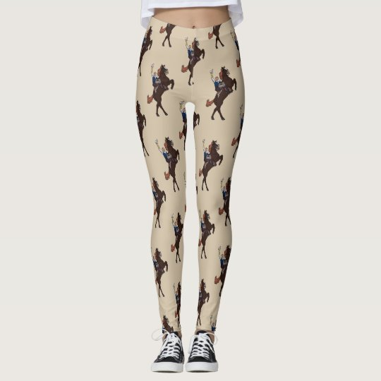 Desert Sand Last of the Pony Riders - Leggings
