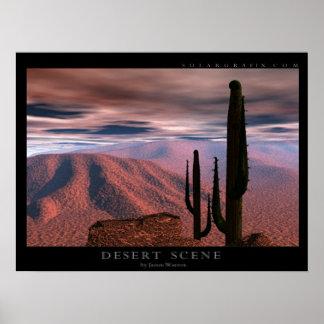 Desert Scene Poster