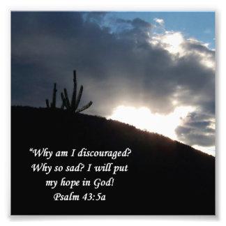 Desert Scene Psalm 43:5 Encouragement Print Photo