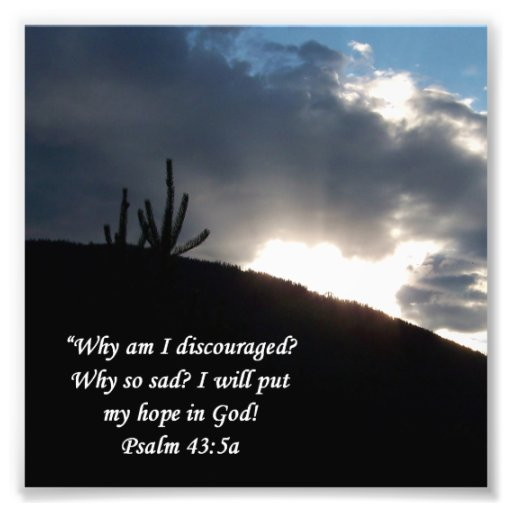 Desert Scene Psalm 43:5 Encouragement Print Photographic Print
