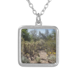 Desert Silver Plated Necklace
