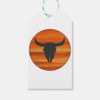 Desert Skull Sunset Gift Tags