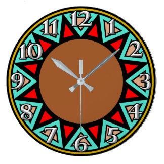 Desert Southwest Motif Large Clock
