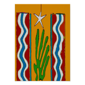 Desert Star Abstract Poster