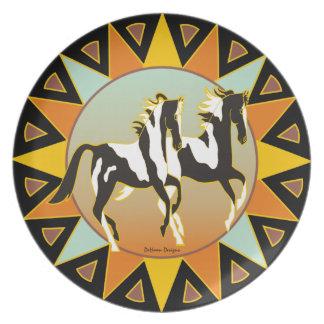 Desert Star Paint Horse Dinner Plate