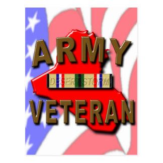 Desert Storm ARMY Veteran Postcard