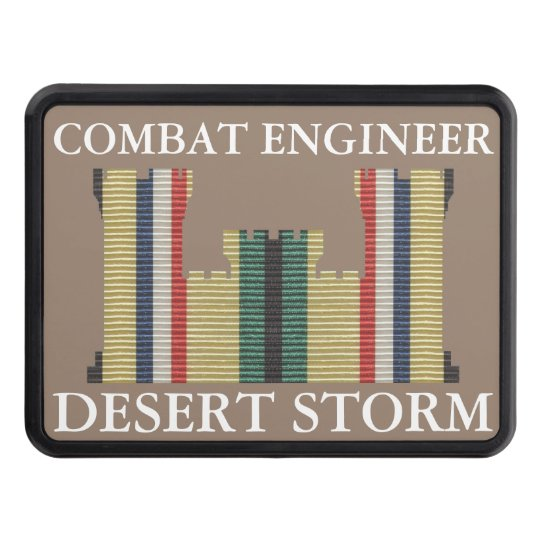 Desert Storm Combat Engineer Insignia Hitch Cover
