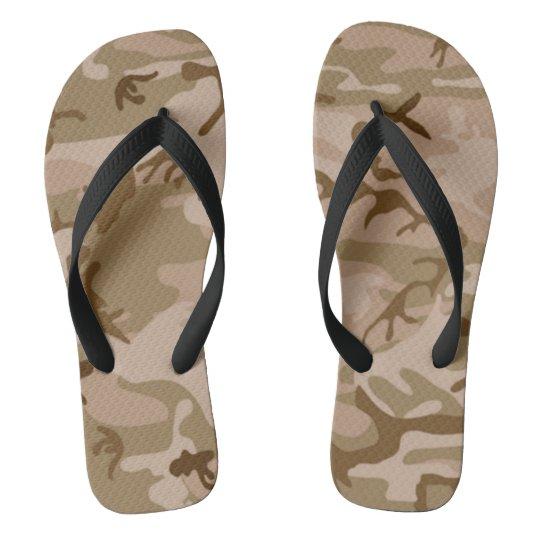Desert Storm style camo Flip Flops