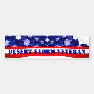 Desert Storm Veteran Bumpersticker Bumper Sticker