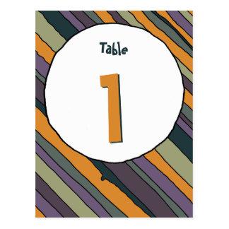 Desert Stripes Table Number Card Postcard