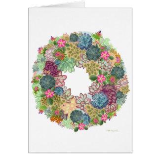 Desert Succulent Wreath Card
