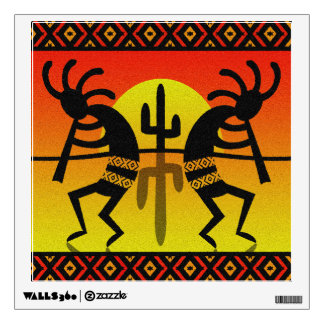 Desert Sun Cactus Southwest Kokopelli Wall Decal