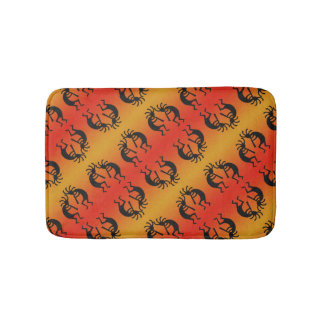 Desert Sun Southwest Design Kokopelli Pattern Bath Mat