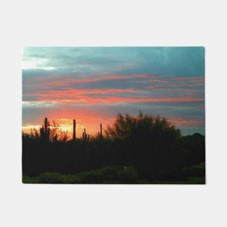 Desert sunset doormat