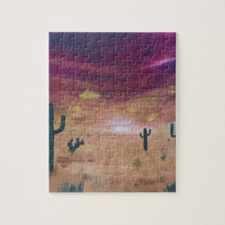 Desert Sunset Jigsaw Puzzle