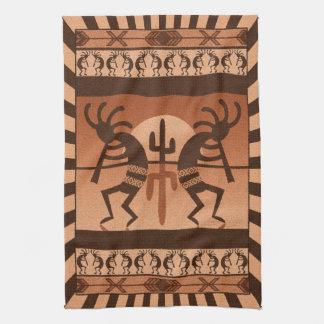 Desert Sunset  Kokopelli Southwest Kitchen Towel