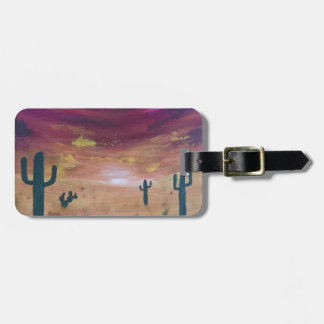 Desert Sunset Luggage Tag