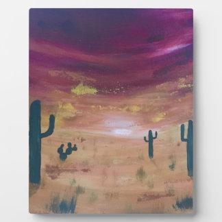 Desert Sunset Plaque