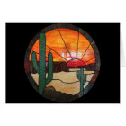 Desert Sunset Stained Glass Notecard